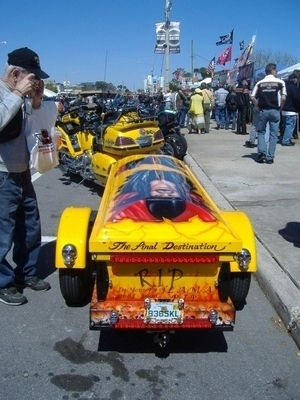Motorcycle With Coffin | Bike Week 2010