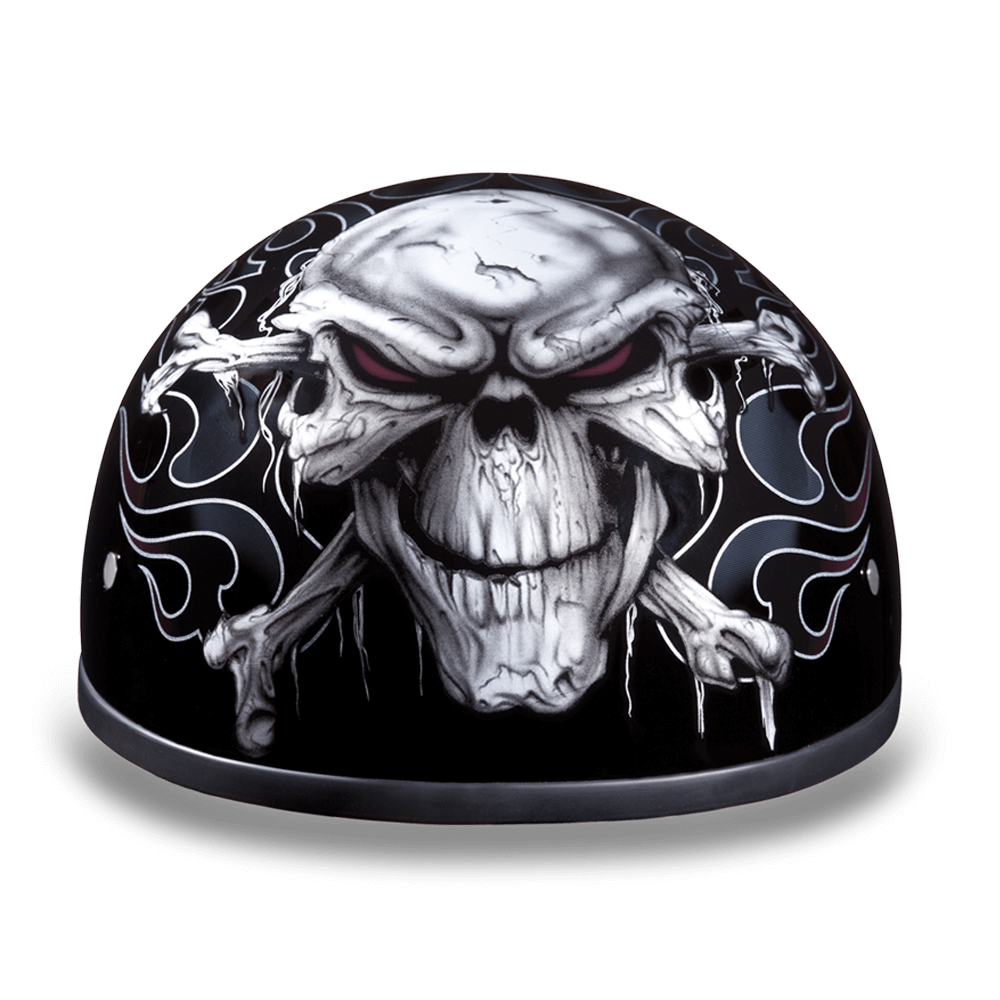 Daytona Graphic Motorcycle Helmets | Cross Bones | D.O.T. Approved