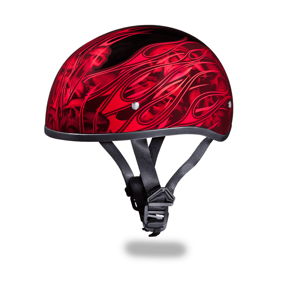 Graphic Motorcycle Helmets Multi Skull Flames Red | D.O.T.