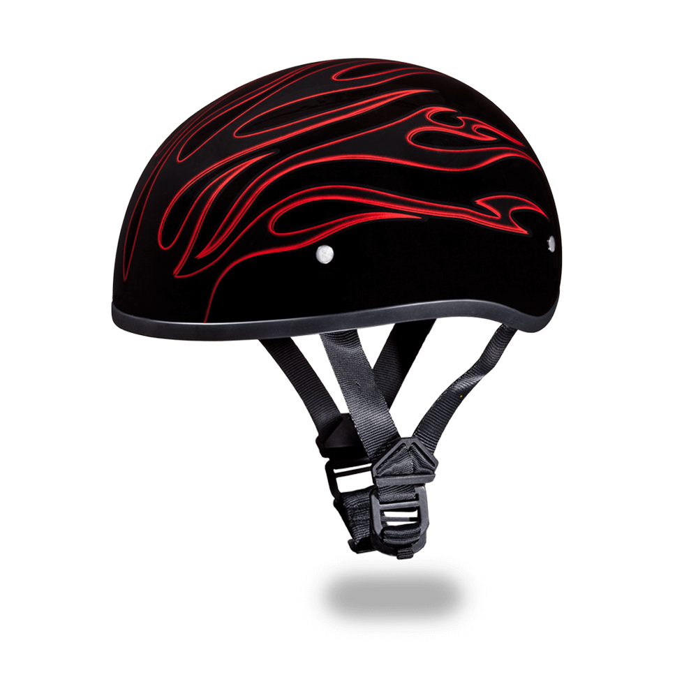 Daytona Graphic Motorcycle Helmets |  Red Flames | D.O.T. Approved