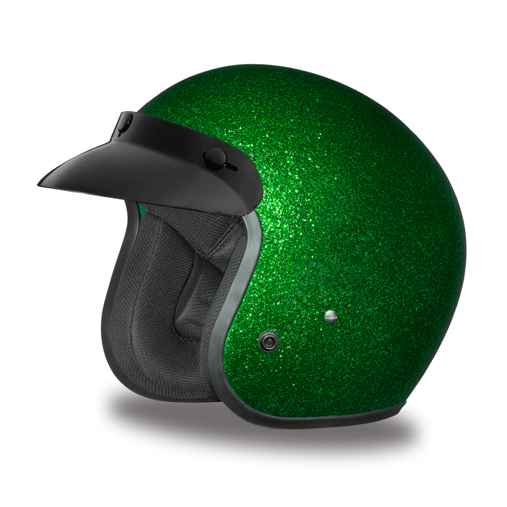 D.O.T. Daytona Cruiser |  Green Metal Flake Helmet