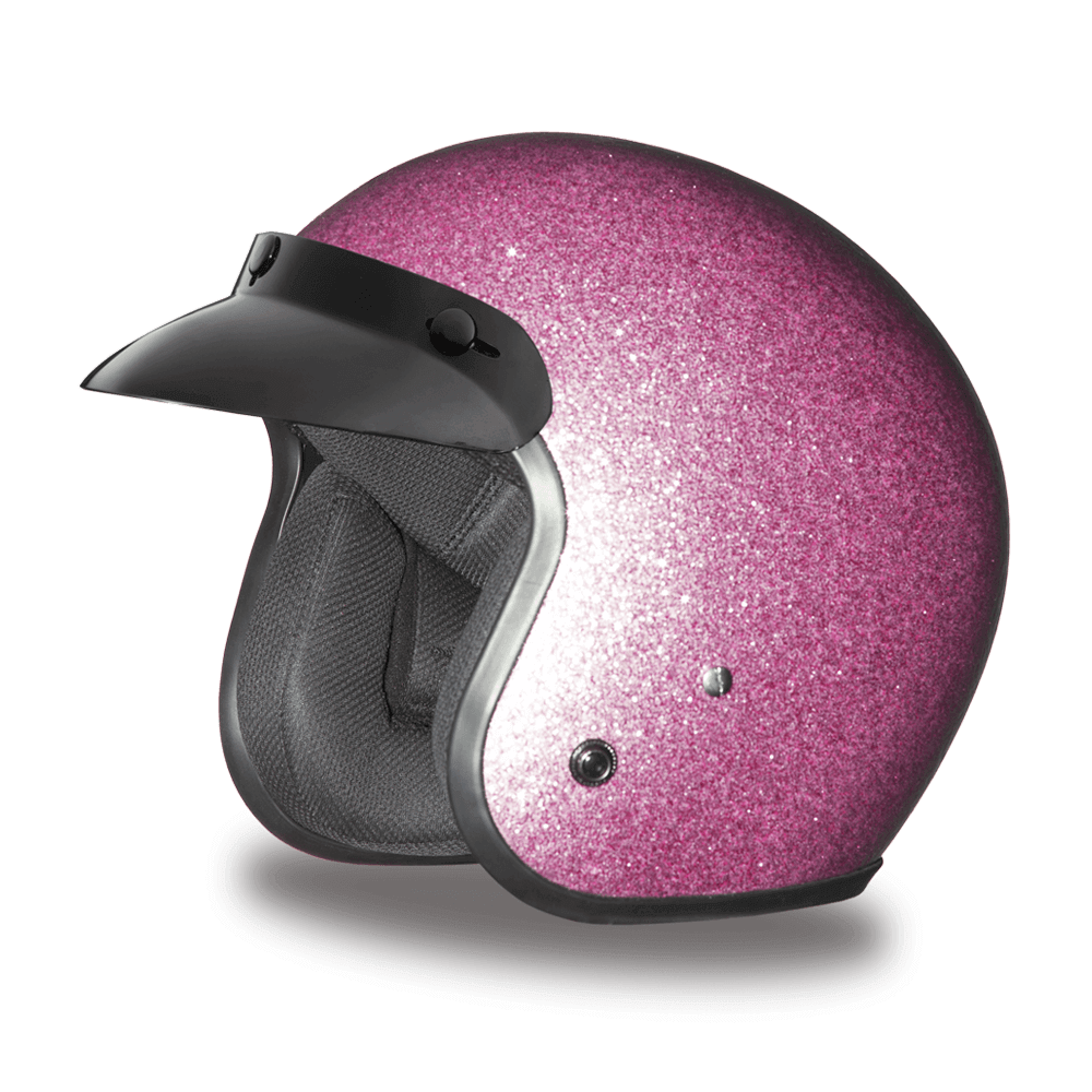 D.O.T. Daytona Cruiser Blue Metal Flake Helmet