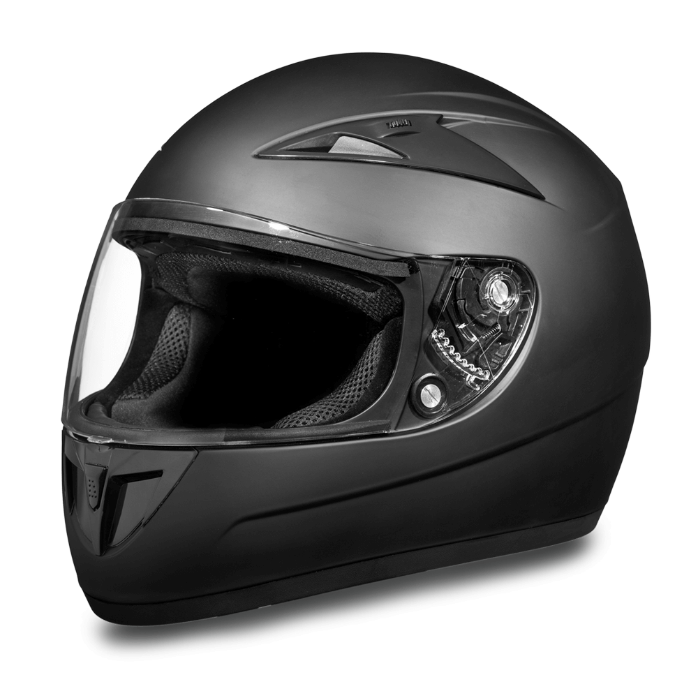 D.O.T. Daytona Shadow | Dull Black | Full Face Motorcycle Helmets