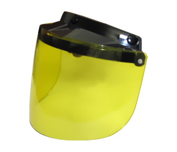 Flip Up Visor- Yellow