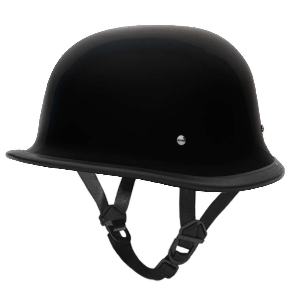 D.O.T. German Hi-Gloss Black | German Motorcycle Helmets