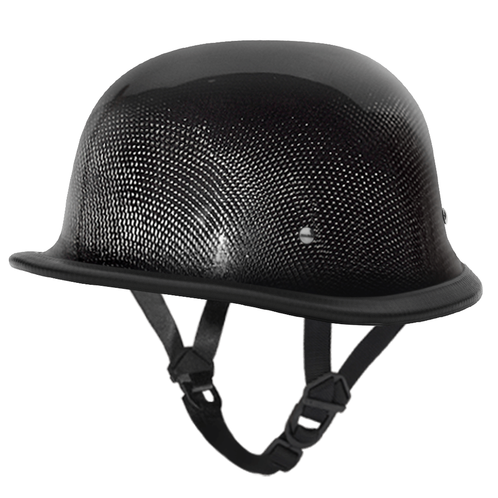 D.O.T. German Grey Carbon Fiber  German Motorcycle Helmets