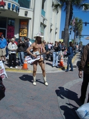 Famous Naked Cowboy | Bike Week 2010