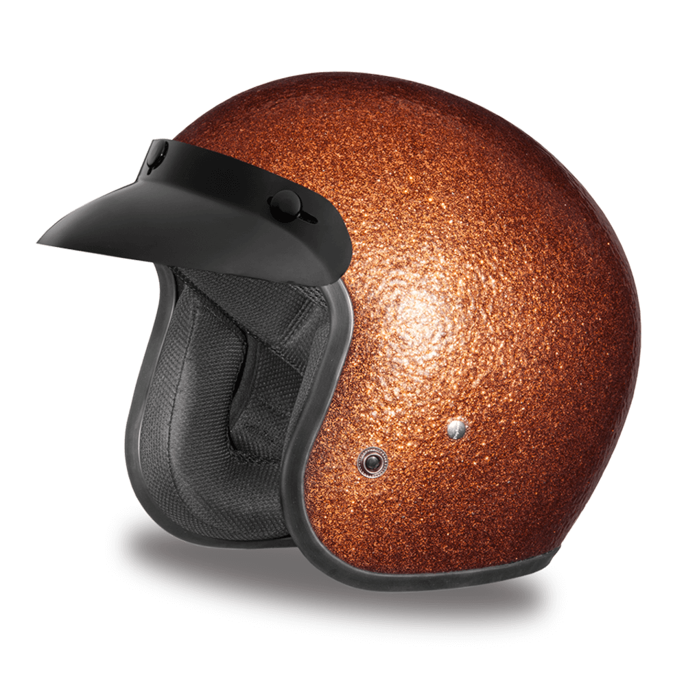 D.O.T. Daytona Cruiser Root Beer Metal Flake Helmet