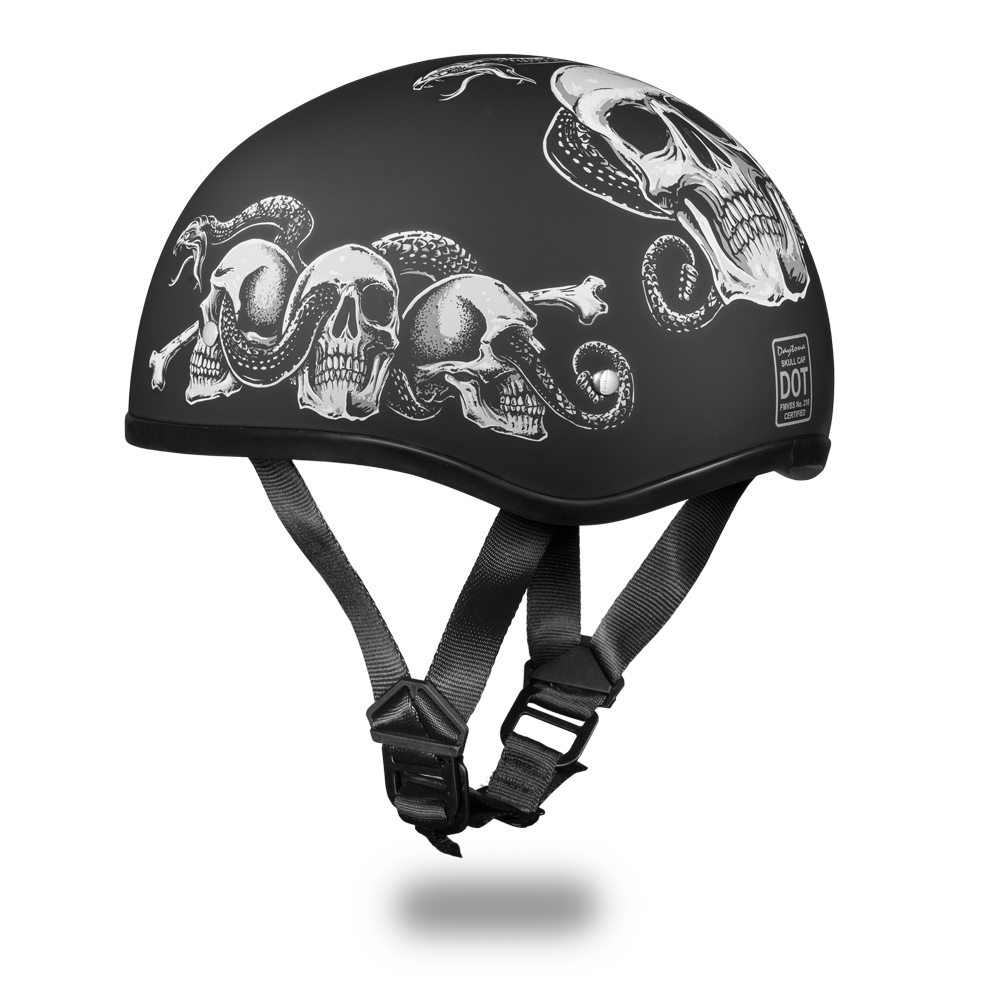 Graphic Motorcycle Helmets Snake Skulls D O T Approved