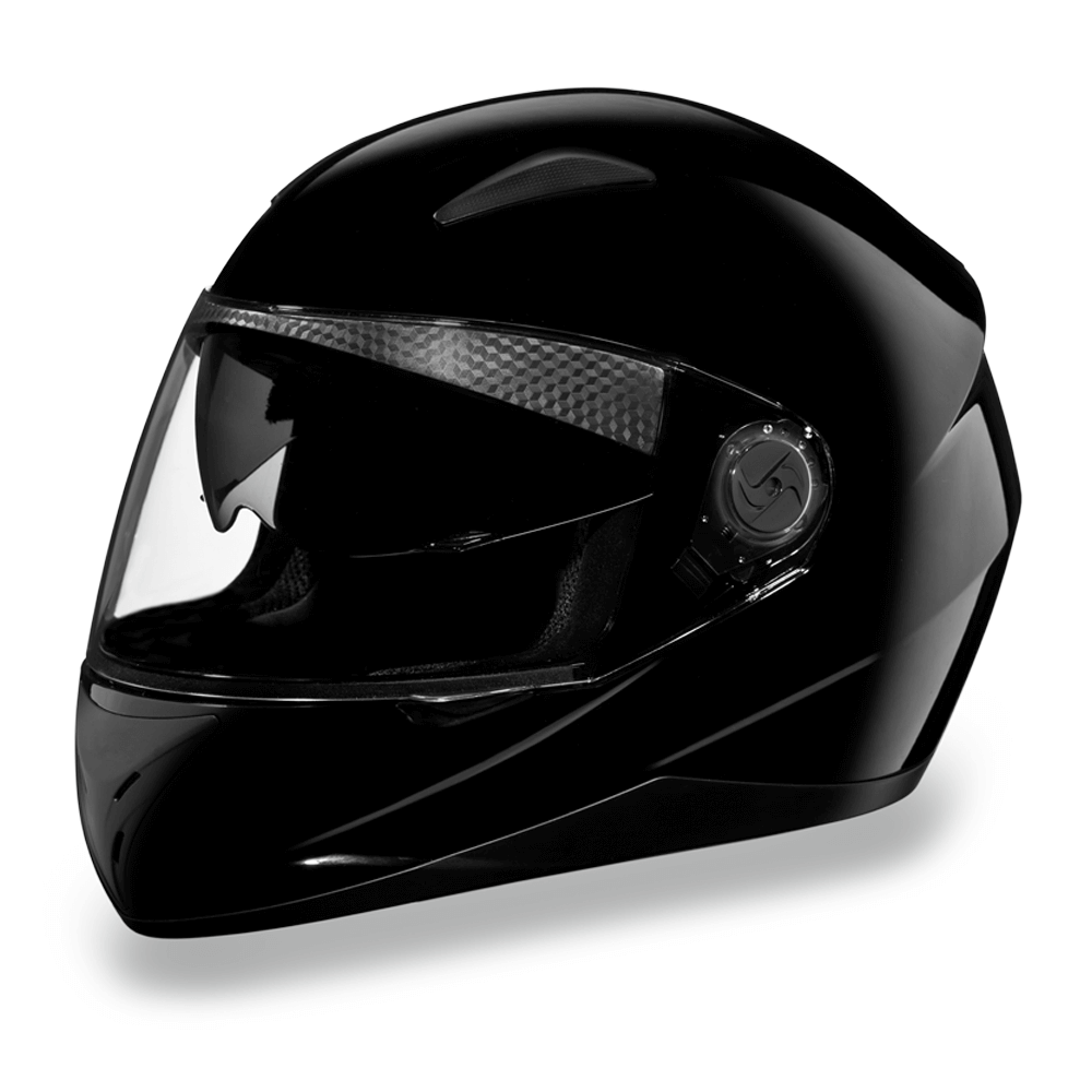 D.O.T. Daytona Shifter with Shield Hi-Gloss Black  | Full Face Motorcycle Helmet