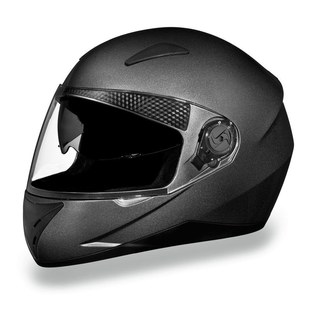 D.O.T. Daytona Shifter with Shield Gun Metal Grey | Full Face Motorcycle Helmet