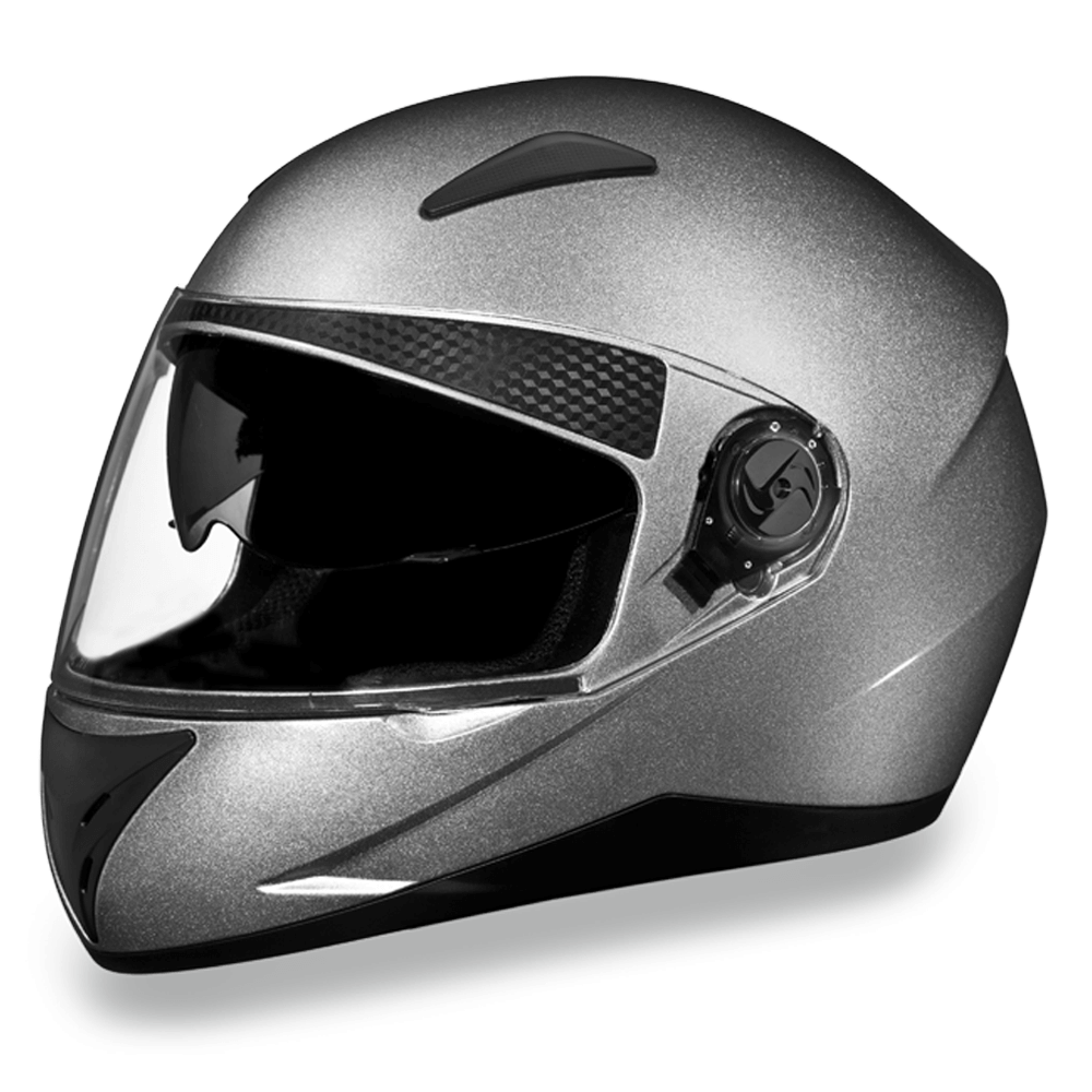D.O.T. Shifter | Silver Metallic  | Full Face Motorcycle Helmet
