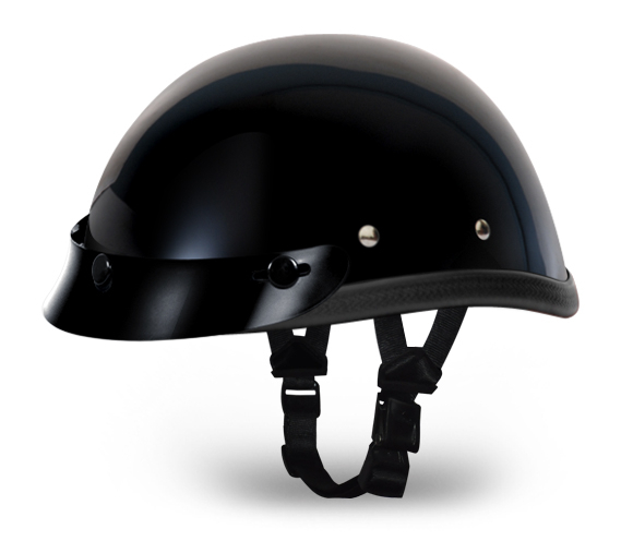 Eagle with Snaps- Hi-Gloss Black | D.O.T. Approved Helmet