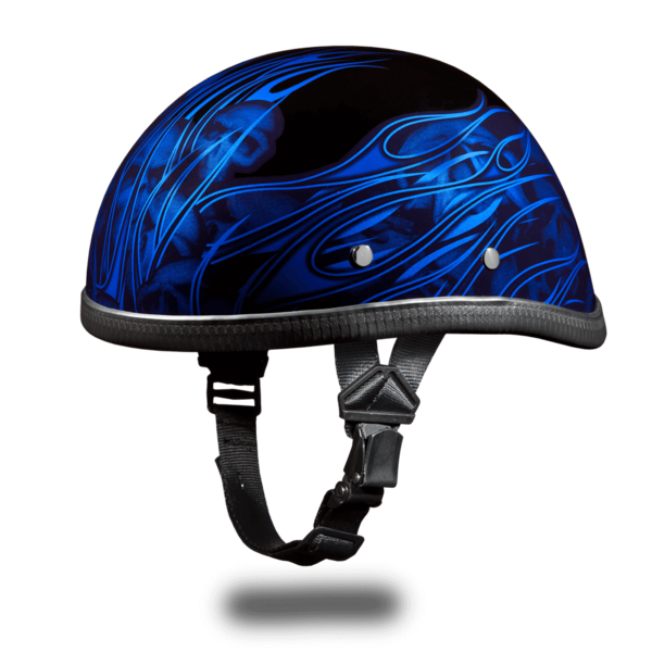Eagle- W/ Multi Skull Flames Blue | Daytona Helmets