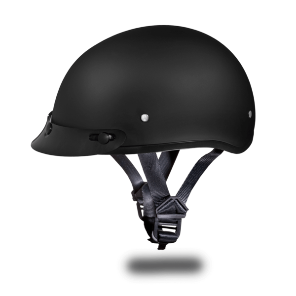 Dull Black Skull Cap Motorcycle Helmets | D.O.T. Approved Helmet
