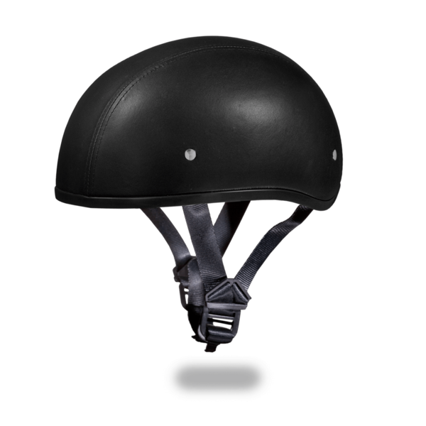 Skull Cap Helmet | Leather Covered Motorcycle Helmet | D.O.T. Daytona