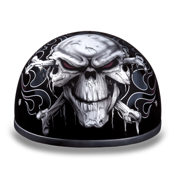 Graphic Motorcycle Helmets Cross Bones | D.O.T. Approved Helmet