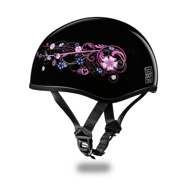 Graphic Motorcycle Helmets Flowers | D.O.T. Approved Helmet