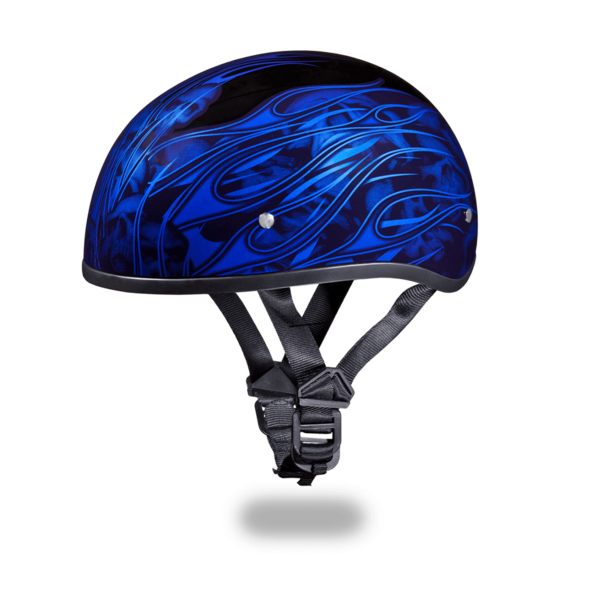 Graphic Motorcycle Helmets Multi Skull Flames Blue | D.O.T.