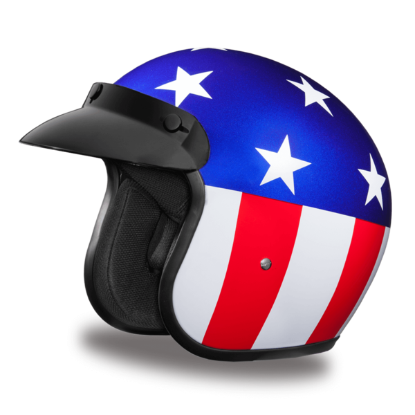 D.O.T. Approved Captain America Helmet | 3/4 Shell Helmets