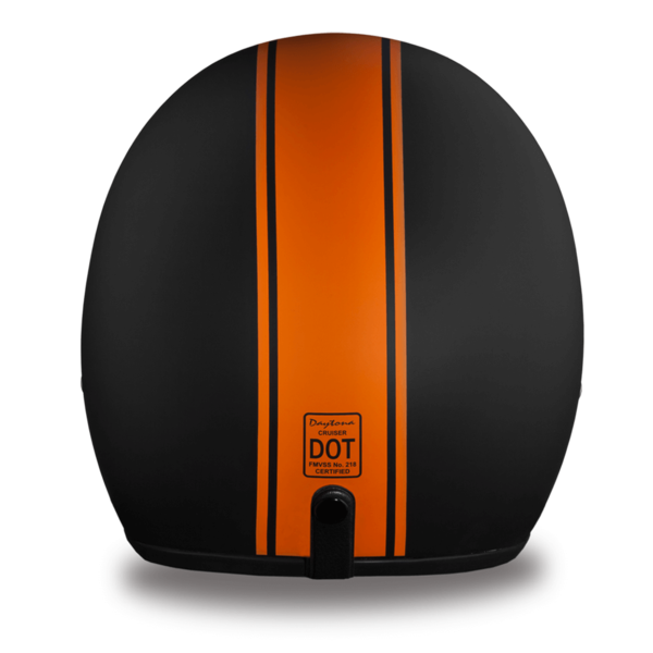 D.O.T. Approved Orange Pin Stripe  Helmet | 3/4 Shell Helmets