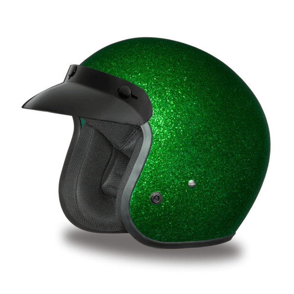 Cruiser Green Metal Flake Helmet | 3/4 Shell Helmets