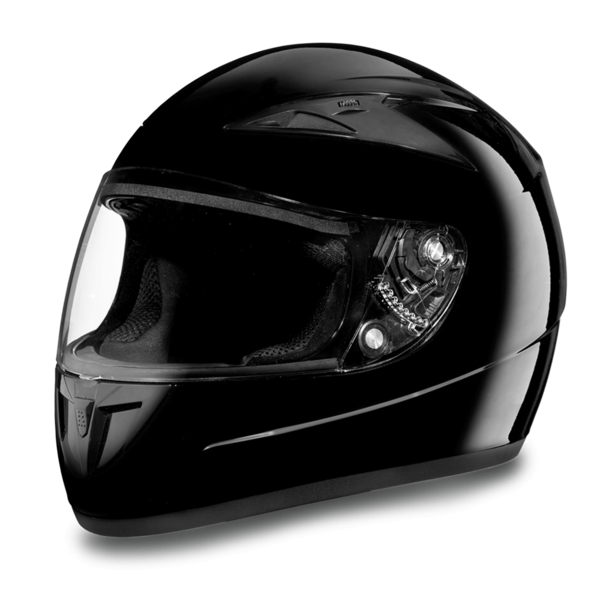 D.O.T. Daytona Shadow- Hi-Gloss Black Full Face Helmets