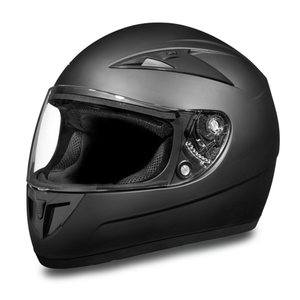 D.O.T. Daytona Shadow | Dull Black Full Face Helmets | D.O.T. Approved