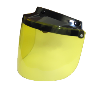 Motorcycle Helmet Flip Up Visor Yellow | Daytona Helmets