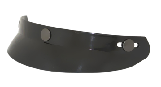 Motorcycle Helmet Half Bubble Visor  Gloss Black