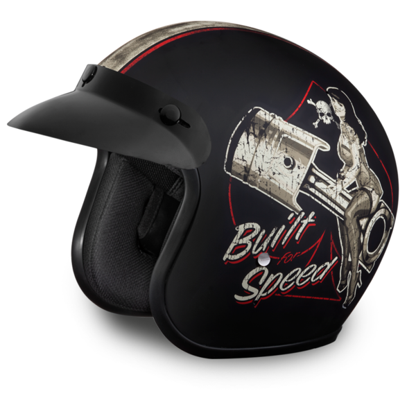 D.O.T. Approved Built For Speed Helmet | 3/4 Shell Helmets