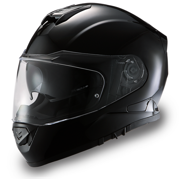 Daytona Helmets Motorcycle Full Face Helmet Detour- Hi-Gloss Black 100% DOT Approved