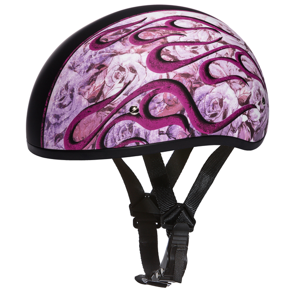 Graphic Motorcycle Helmets  Flames Pink | D.O.T. Approved Helmet