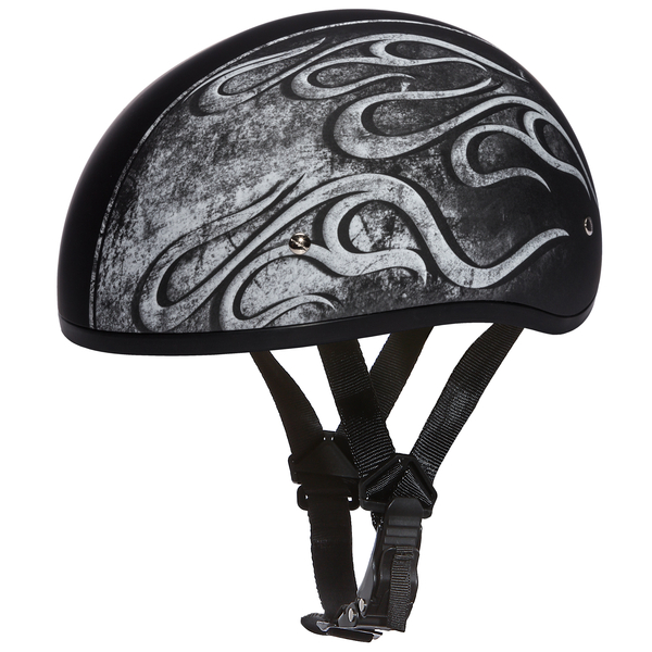 Graphic Motorcycle Helmets Flames Grey| D.O.T. Approved Helmet