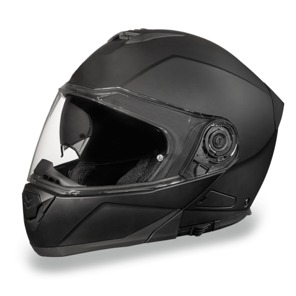 Daytona Helmets Motorcycle Modular Full Face Helmet Glide- Dull Black 100% DOT Approved