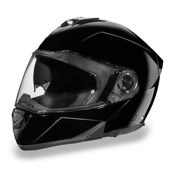 Daytona Helmets Motorcycle Modular Full Face Helmet Glide- Hi-Gloss Black 100% DOT Approved