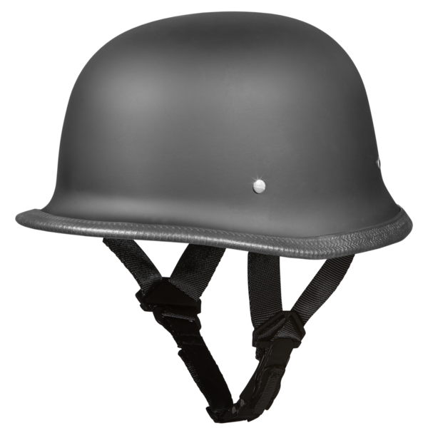 German Motorcycle Helmets | Dull Black | D.O.T. Approved Helmet