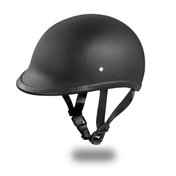 Polo Style Motorcycle Helmet | D.O.T. Hawk Dull Black |