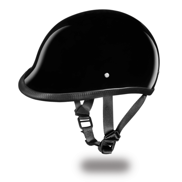 Polo Style Motorcycle Helmet | D.O.T. Hawk  Hi-Gloss Black | | D.O.T. Approved Helmet