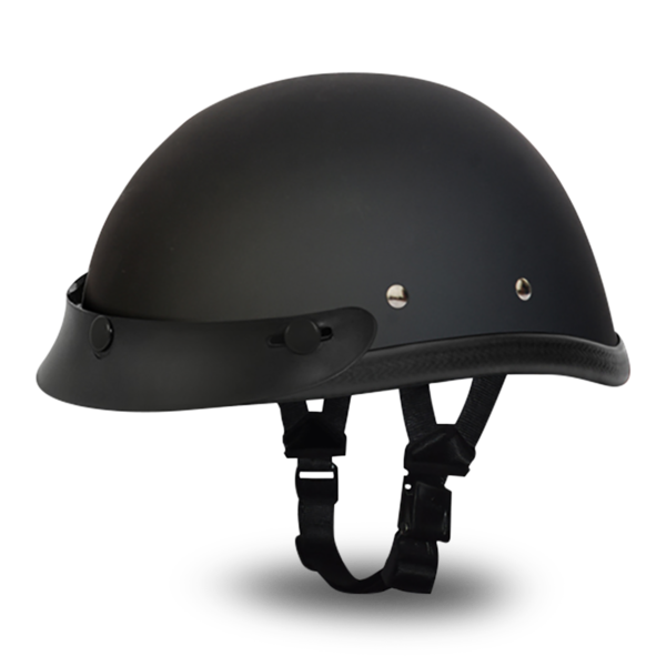 Eagle with Snaps- Dull Black | D.O.T. Approved Helmet