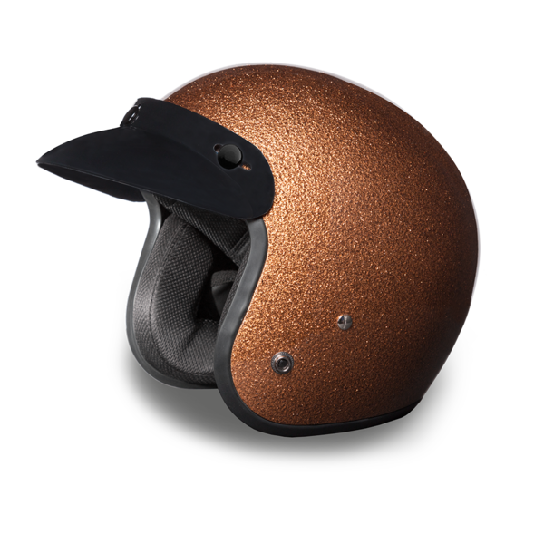 Daytona Helmets Motorcycle Open Face Helmet Cruiser- Root Beer Metal Flake 100% DOT Approved