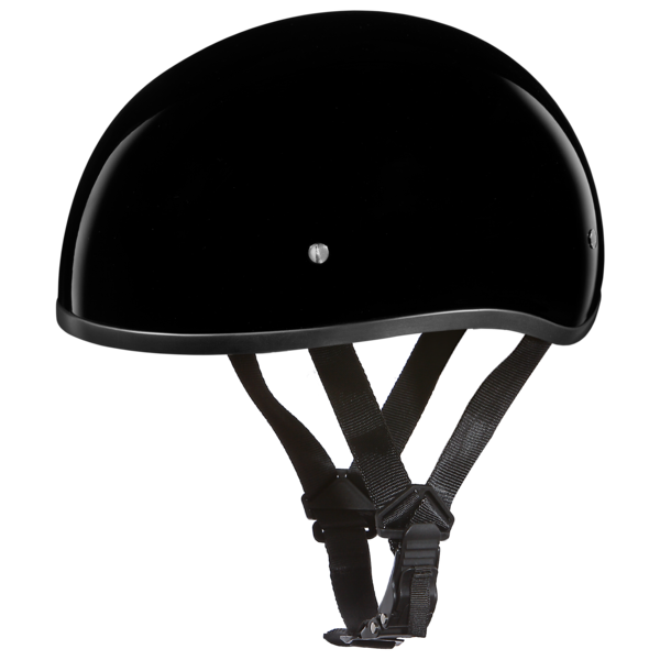 Hi Gloss Black Skull Cap Motorcycle Helmets | D.O.T. Approved Helmet