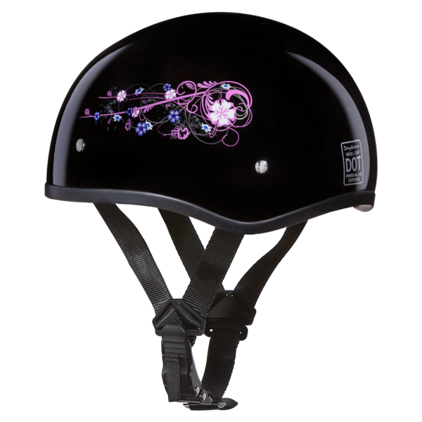 Graphic Motorcycle Helmets Flowers   D.O.T. Approved Helmet