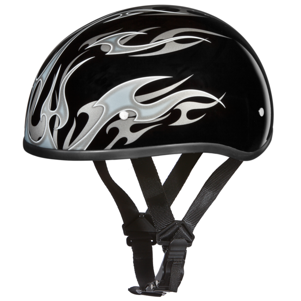 fcf5b5a2d85 Graphic Motorcycle Helmets Flames Silver
