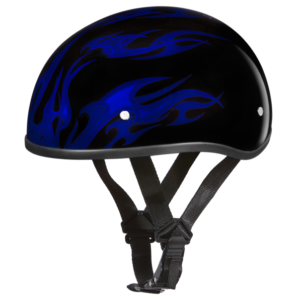 Graphic Motorcycle Helmets Flames Blue | D.O.T. Approved Helmet