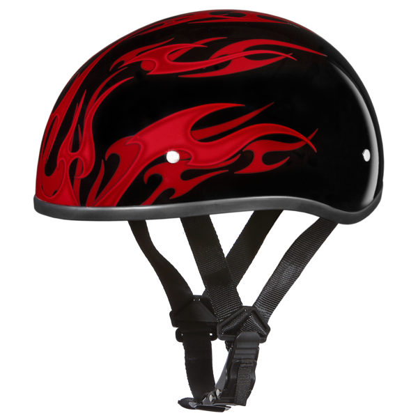 Graphic Motorcycle Helmets Flames Red | D.O.T. Approved Helmet