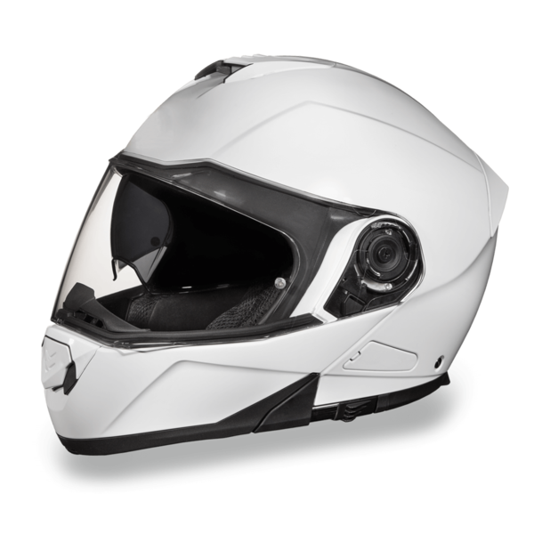 Daytona Helmets Motorcycle Modular Full Face Helmet Glide- Hi-Gloss White 100% DOT Approved