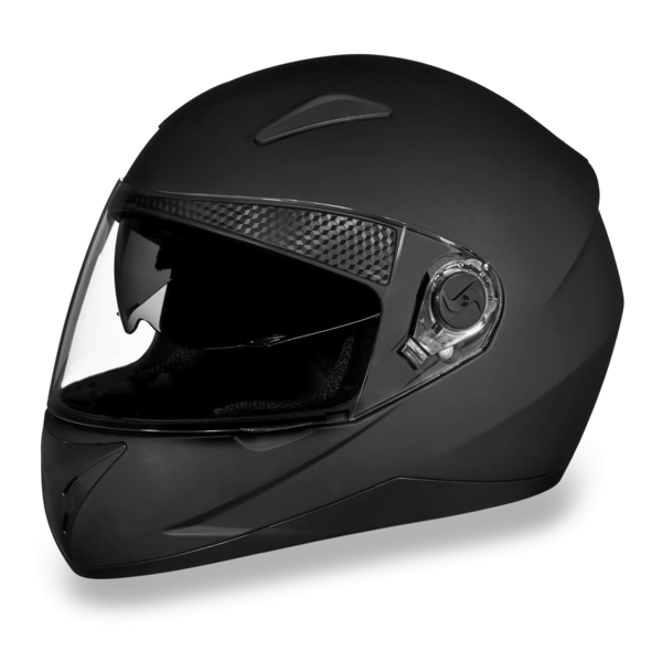 D.O.T. Shifter with Shield Dull Black  | Full Face Motorcycle Helmet