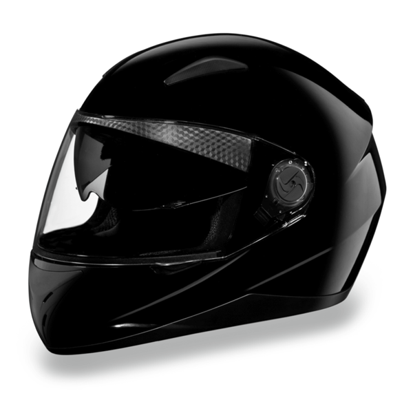 D.O.T. Shifter with Shield Hi-Gloss Black  | Full Face Motorcycle Helmet