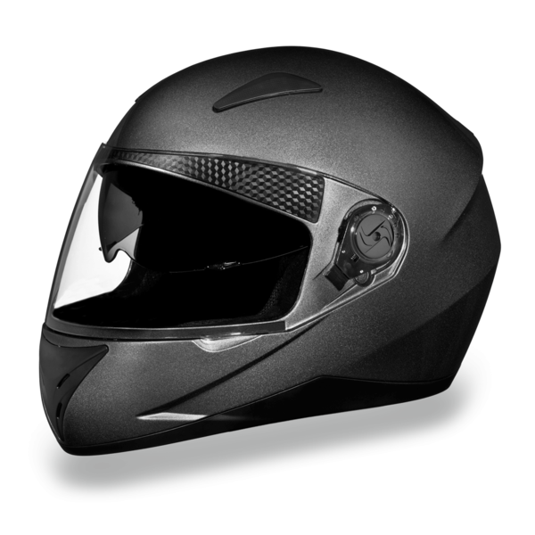 D.O.T. Shifter with Shield Gun Metal Grey Metallic | Full Face Motorcycle Helmet